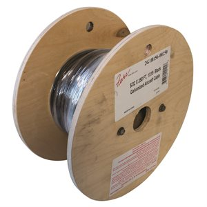 5 / 32 X 250 FT, 1X19 Black Galvanized Aircraft Cable