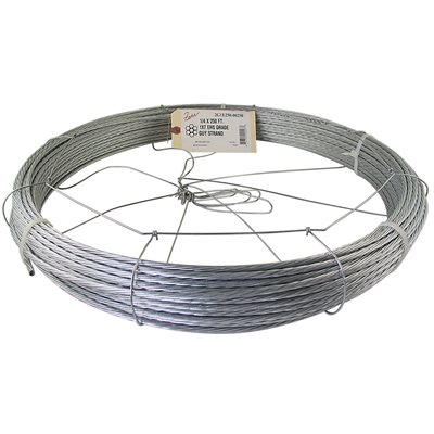 1 / 4 X 250 FT 1X7 EHS Galvanized Guy Strand w /  Dispenser Cage