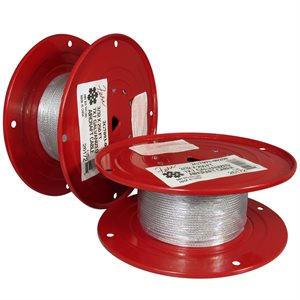 3 / 64 X 250 FT, 7X7 Galvanized Aircraft Cable