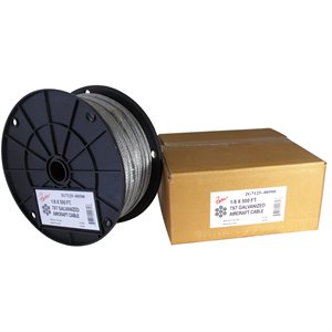 5 / 64 X  500 FT, 7X7  Galvanized Aircraft Cable