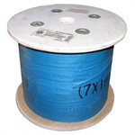 3 / 16-1 / 4 X 5000 FT, 7X19 Clear Nylon Coated Galvanized Aircraft Cable