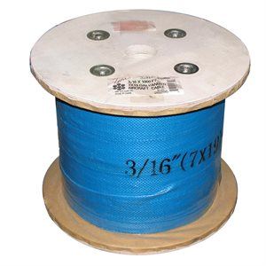 5 / 32 X 1000 FT, 7X7 Galvanized Aircraft Cable
