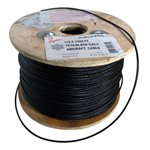 1 / 8 X 1000 FT, 7X19  Black Galvanized Aircraft Cable