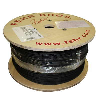 1 / 8 X 2500 FT, 7X19  Black Galvanized Aircraft Cable