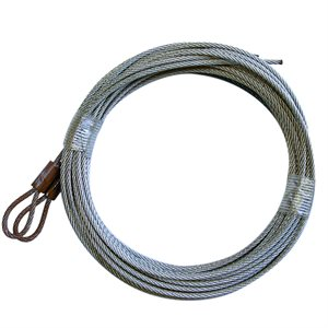 3 / 32 X 156 7X7 GAC Garage Door Plain Loop Extension Lift Cables - Brown