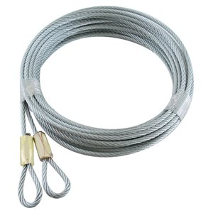 1 / 8 X 120 7X7 Plain Loop Extension - White