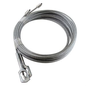 "1 / 8 X 102"" 7X7  GAC Garage Door Torsion Lift Cables with CC-1 Clip"