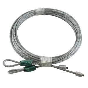 1 / 8 X 104 7X7 GAC Garage Door Torsion Lift Cables - Green