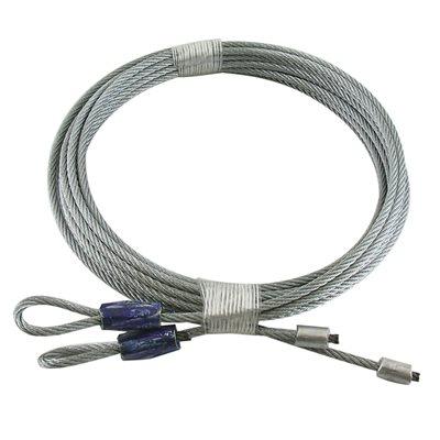 1 8 x 114 7x7 gac garage door torsion lift cables blue for Cost to repair garage door cable