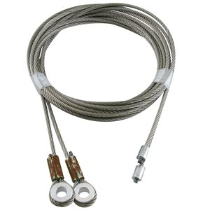 1 / 8 X 105 7X19 GAC Truck Door Cables, 1 / 4 Spool Eye - Brown