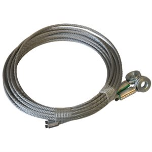 1 / 8 X 105  7X19 GAC Truck Door Cables, 5 / 16 Bevelled Eye
