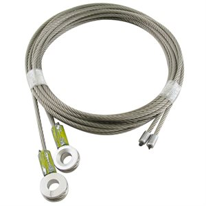 1 / 8 X 105 7X19 GAC Truck Door Cables, 7 / 16 Eye - Yellow