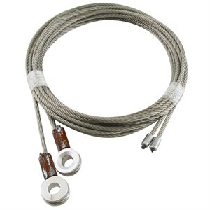 1 / 8 X 110 7X19 GAC Truck Door Cables, 7 / 16 Eye - Brown