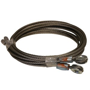 1 / 8 X 105 7X19 SSAC Truck Door Cables, 1 / 4 Eye - Brown
