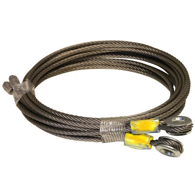 1 / 8 X 95  7X19 SSAC Truck Door Cables, 1 / 4 Eye - Yellow