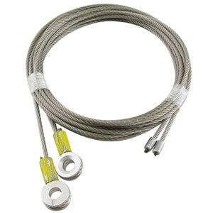 1 / 8 X 105 7X19 SSAC Truck Door Cables 5 / 16 Bevelled Eye - Yellow
