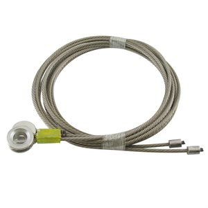 1 / 8 X 105 7X19 SSAC Truck Door Cables 7 / 16 Eye -Yellow