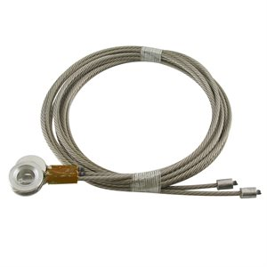 1 / 8 X 110 7X19 SSAC Truck Door Cables 7 / 16 Eye - Brown