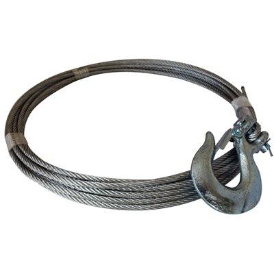 7 / 32 X 25 FT Winch Cable with Hook