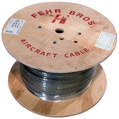 16 X 500 FT 6X19 Fiber Core Bright Wire Rope