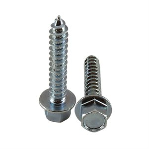 5 / 16 X 1-3 / 4 High Profile Hex Washer Head Lag Screw, Zinc Plated X 1000 Pcs
