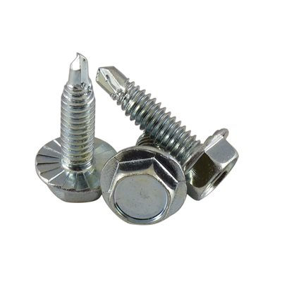 1 / 4-20 X 1Hex Serrated Washer Head Drill-Tap Screw, 7 / 16 Across Flats X 2500 Pcs