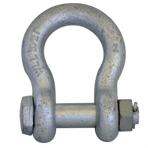 "1"" Galvanized Safety Shackle with Nut & Pin"