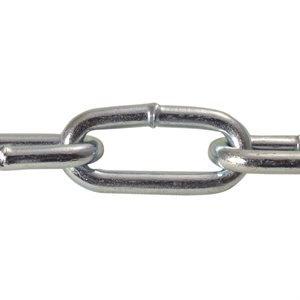 2 / 0 X 125 FT Straight Link Coil Chain Zinc Plated