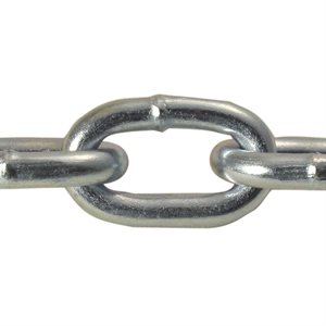 2 / 0 X 100 FT Straight Link Machine Chain Zinc Plated