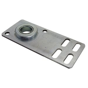 "End Plate - Flat with 1"" Bearing, 8 Gauge X 5-5 / 8"