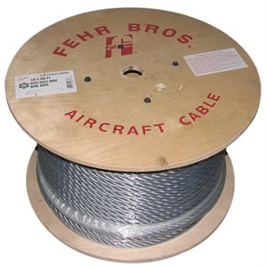 1 / 2 X 5000 FT 6X26 IWRC EIPS RRL Galvanized Wire Rope