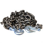 3 / 8 X 20 FT Self Colored High Test Binder Chain w /  Grab Hooks