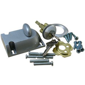 Cast Garage Door Deadbolt with Cylinder (411-68)