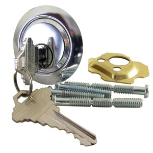 Zinc Die Cast Rim Cylinder with Keys (411-7)