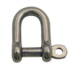 "5 / 32 Type 316 Stainless Steel Straight ""D"" Shackle"