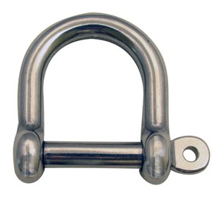 "1 / 4 Type 316 Stainless Steel Wide ""D"" Shackle"