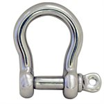 1 / 4 Type 316 Stainless Steel Screw Pin Bow Shackle, (6mm) WLL 930 Lbs