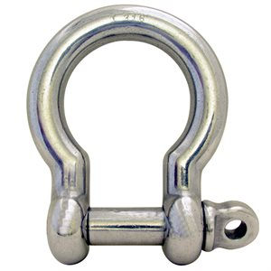 5 / 8 Type 316 Stainless Steel Screw Pin Bow Shackle, (16mm) WLL 5,500 Lbs