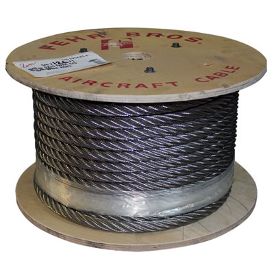 2 X 1000 FT 6X19 IWRC Stainless Steel Wire Rope