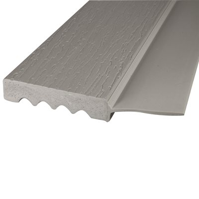 "Gray (P509), #2213-Side Flap , 7 FT x 2"", Vinyl Stop"