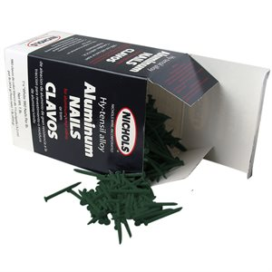 "Green Trim Nails, 1-1 / 4"" Aluminum Alloy, 1 Lb"