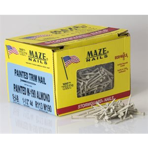 "Brown Maze 1-1 / 2"" SmoothTrim Nail-5 Lb Ctn"