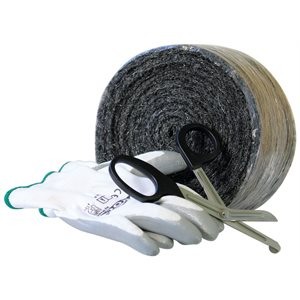 "Rodent Xcluder Fill Fabric, 1 Roll 4"" X 10' Includes Gloves & Scissors"