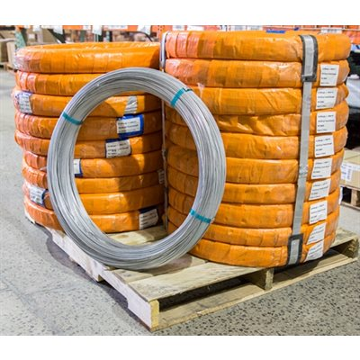 12.5 Gauge High Tensile Steel, Single Strand Wire X 2000 FT