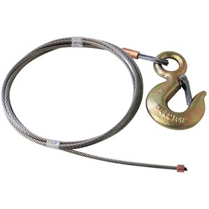 1 / 4 X 60 FT 7X19 Stainless w 2 Ton Alloy Hoist Hook