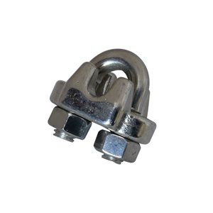 Ochoos 304 Stainless Steel M14 Cable Wire Rope Clamp Clip Fit 2-24mm Thickness Steel Rope Pack of 2